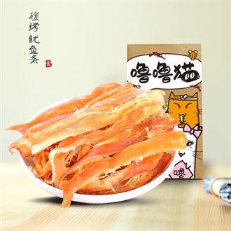 噜噜猫碳烤鱿鱼丝258g原味即食零食手撕大鱿鱼条烟台特产
