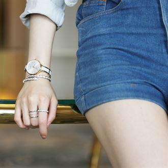 米纳新款时尚简约超薄大表盘陶瓷手表女陶瓷表女表石英表手链表女