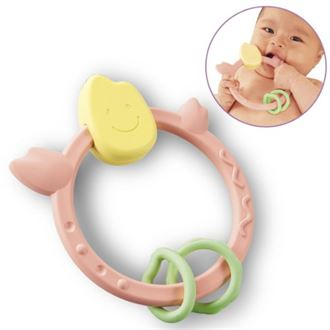 包邮 日本原装进口people纯大米制造婴儿固齿器 磨牙玩具咬胶牙胶