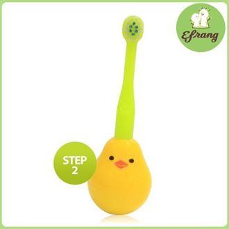 韩国正品宝宝软毛牙刷儿童牙刷乳牙婴幼儿训练护齿不倒翁1-2-3岁
